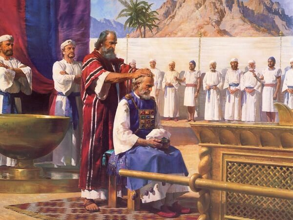 Depiction of Moses ordaining Aaron, by Harry Anderson