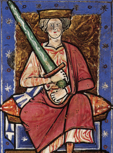Depiction of Æthelred the Unready fom the 13th century