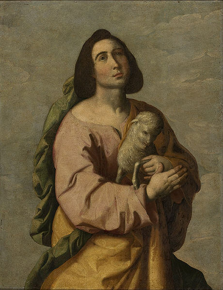 Depiction of Saint Agnes by Francisco de Zurbarán (1642)