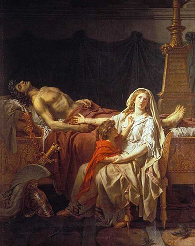 Andromache Mourning Over Body of Hector by Jacques-Louis David (1783)