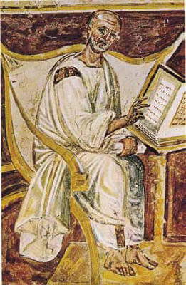 6th-century depiction of Saint Augustine of Hippo