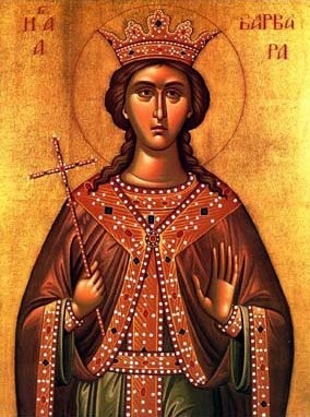 Icon depicting Saint Barbara