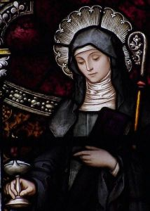 Depiction of Saint Brigid of Kildare