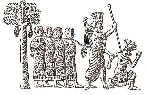 6th-century BC depiction of Cambyses capturing the pharaoh of Egypt