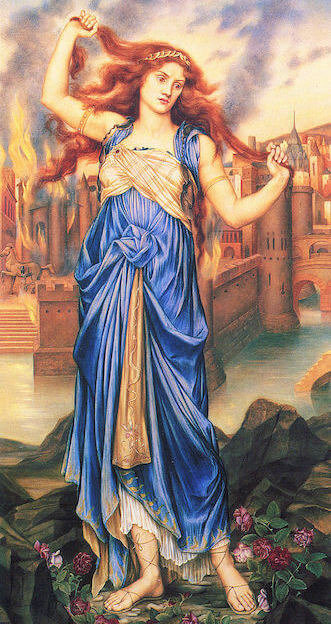 Depiction of the Trojan princess Cassandra by Evelyn De Morgan (1898)