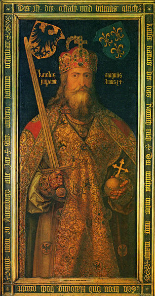 Depiction of Charlemagne by Dürer (1512)