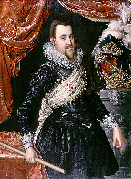 Portrait of Christian IV of Denmark by Pieter Isaacsz