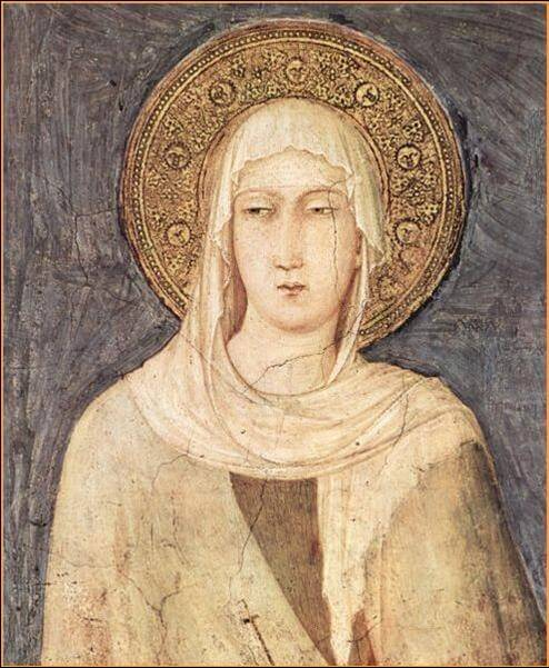Depiction of Saint Clare from a fresco in Assisi