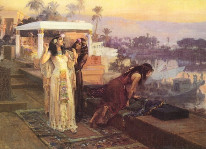 Cleopatra on the Terraces of Philae by Frederick Arthur Bridgman (1896)