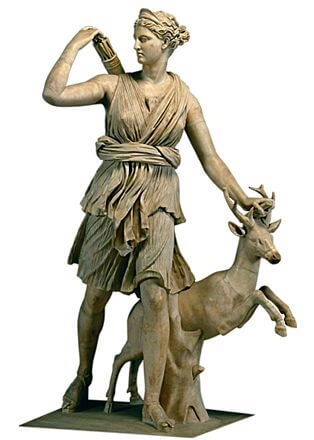 Sculpture of the goddess Diana (Artemis)
