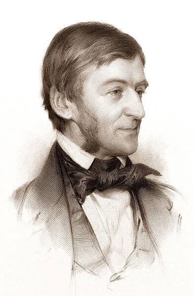 Engraving of Ralph Waldo Emerson (1878)
