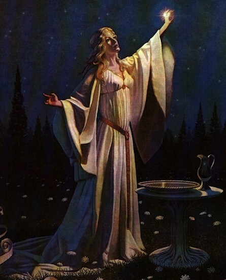 Depiction of Galadriel by the Brothers Hildebrandt (1978)