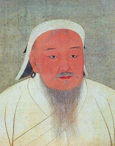 14th-century depiction of Genghis Khan