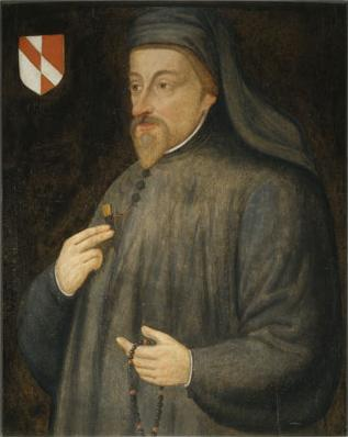 17th-century depiction of Geoffrey Chaucer