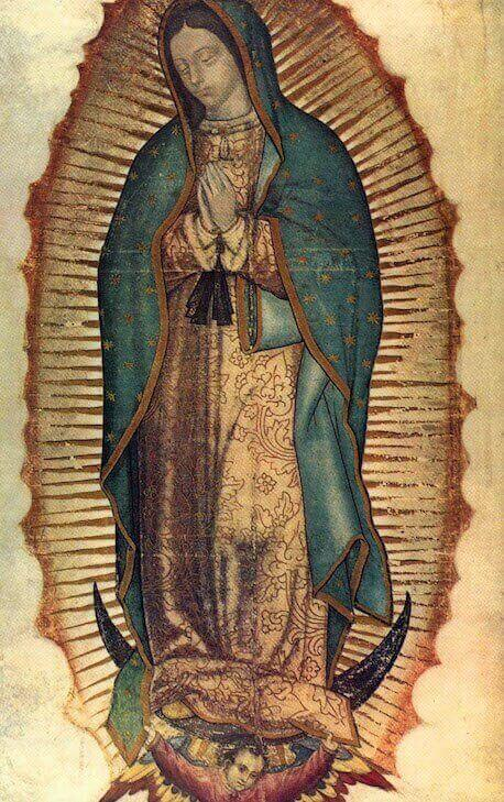 16th-century painting of Mary, called the Virgin of Guadalupe