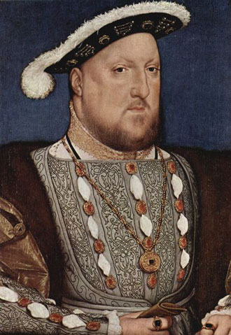 Portrait of Henry VIII by Hans Holbein (1536)