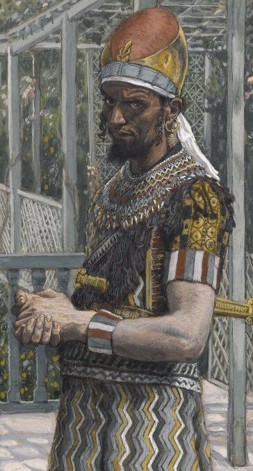 Depiction of Herod the Great by James Tissot (c. 1890)
