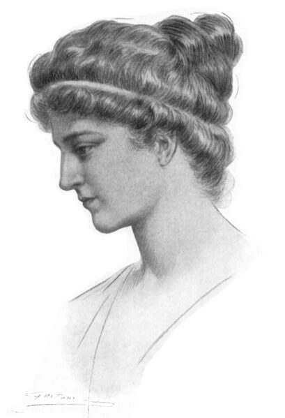 Hypatia of Alexandria in a 1908 illustration