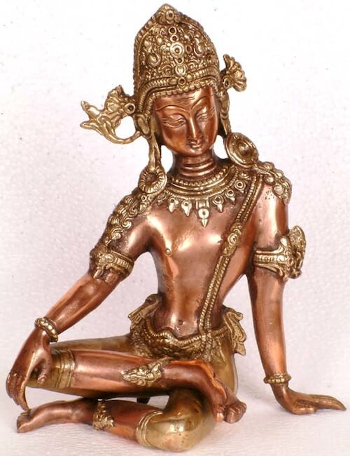 Brass statue of Indra