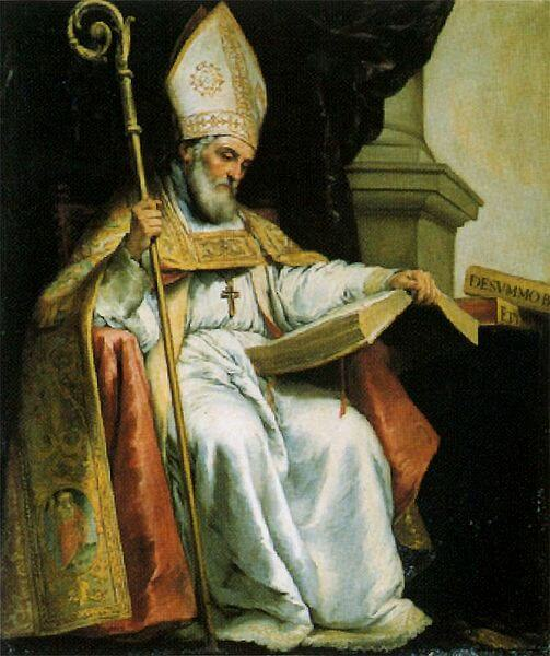 Depiction of Isidore of Seville by Bartolomé Esteban Murillo (1655)