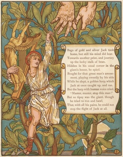 Depiction of Jack and the Bean Stalk by Walter Crane (1875)