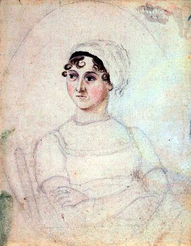 Jane Austen in a portrait by her sister (1810)