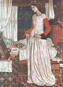 Queen Guinevere by William Morris (1858)
