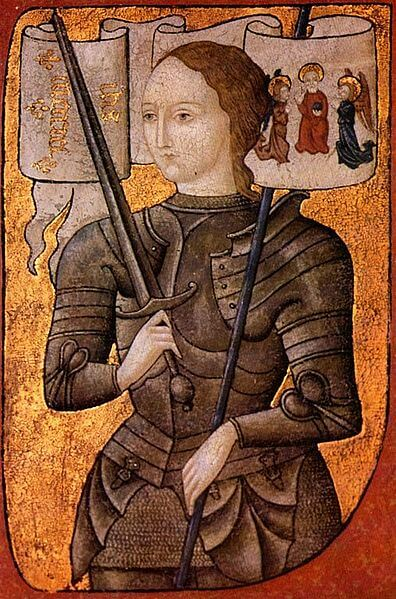 Depiction of Joan of Arc by Martin Lefranc (1450)