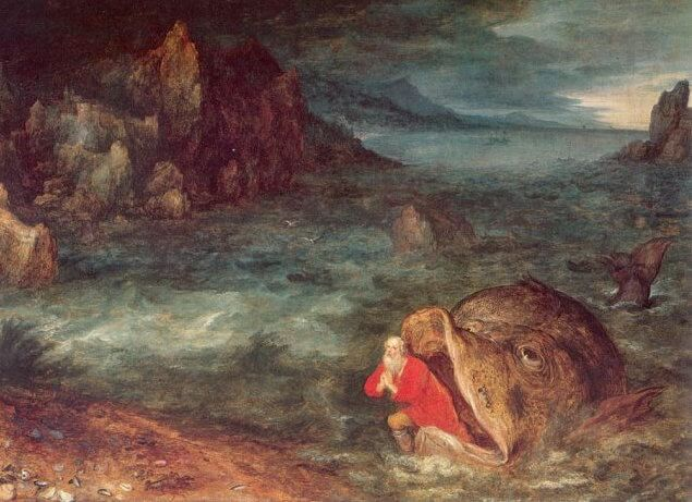 Jonah Leaving the Whale by Jan Brueghel the Elder (c. 1600)