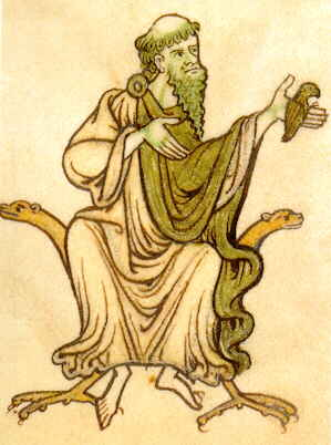 9th- or 10th-century depiction of Saint Caoimhín of Glendalough