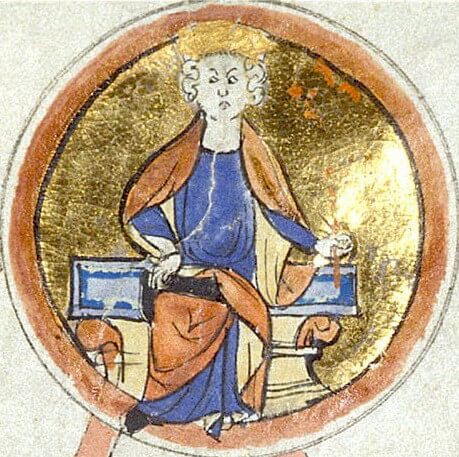 13th-century miniature depicting Knut the Great