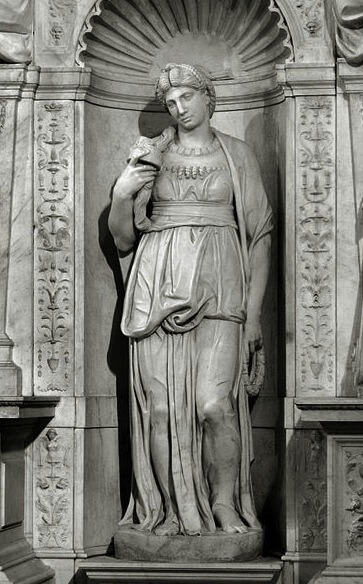 Sculpture of the biblical Leah by Michelangelo (1545)