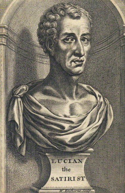 Engraving of Lucian of Samosata by William Faithorne (17th century)