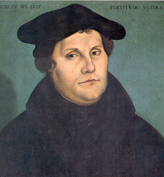 Depiction of Martin Luther by Lucas Cranach the Elder (1533)