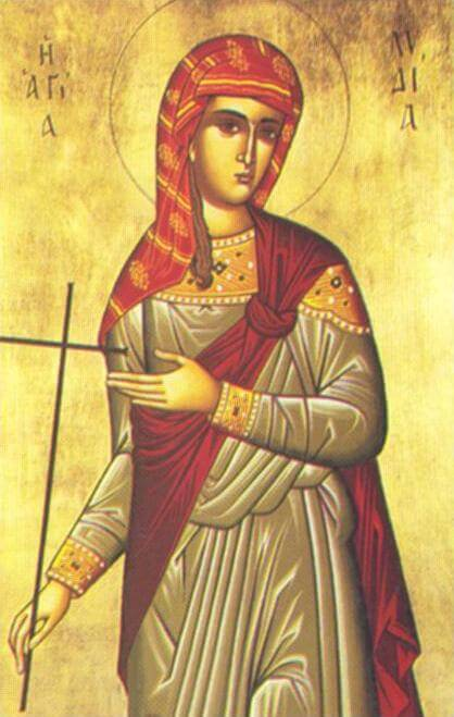 Icon depicting Saint Lydia