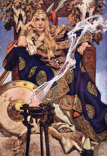 Queen Maeve by Joseph Christian Leyendecker (1911)