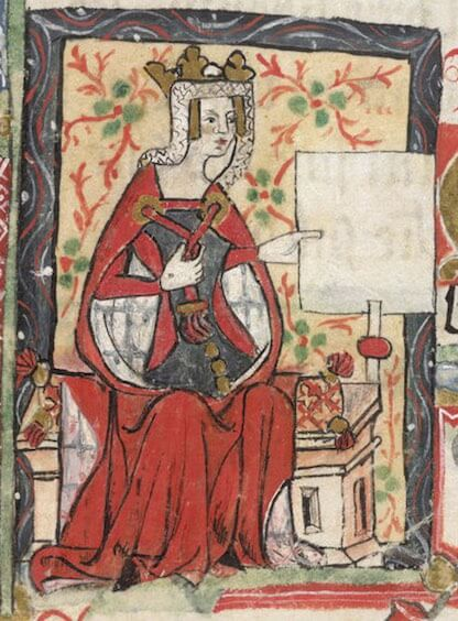 Depiction of the Empress Matilda, daughter of Henry I of England