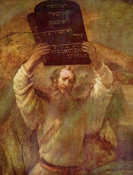Depiction of Moses by Rembrandt (1659)