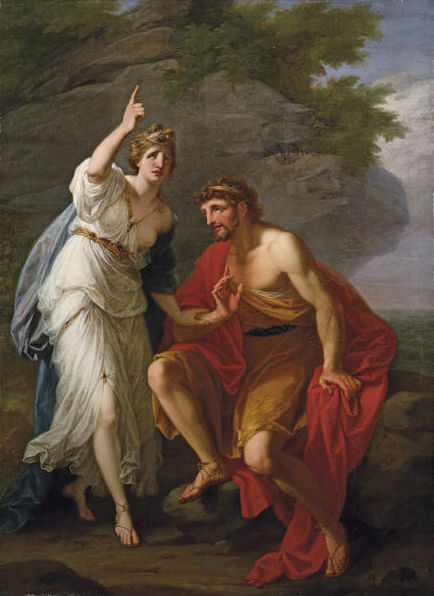 18th-century depiction of Odysseus and Calypso by Angelica Kauffman