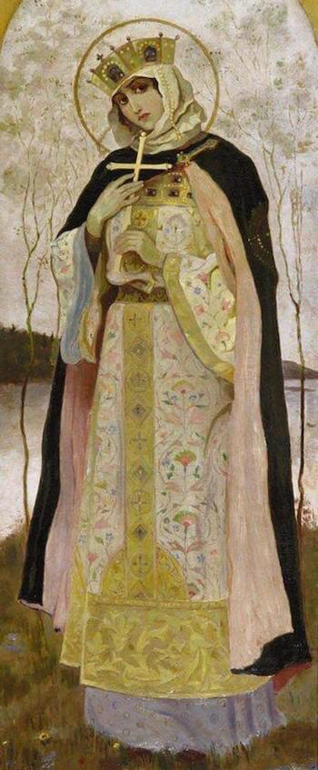 Painting of Saint Olga by Mikhail Nesterov (1892)
