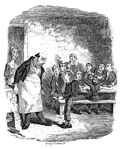 Depiction of Oliver Twist (1837)