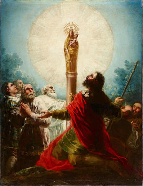 Depiction of Saint James adoring the Virgin of the Pillar by Francisco Goya (1780)