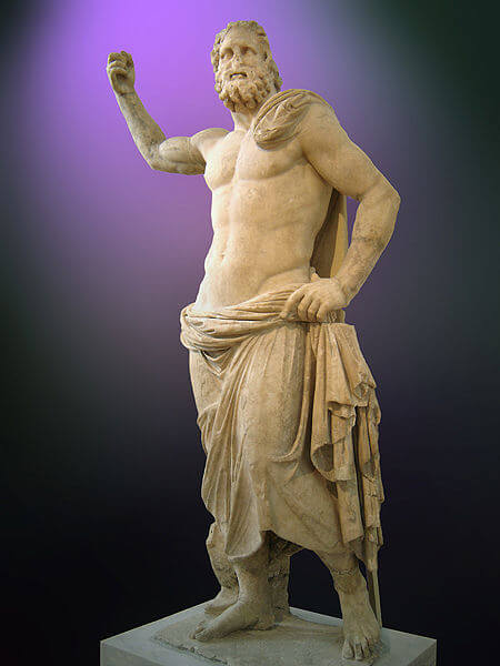 Statue of Poseidon from the 2nd century BC