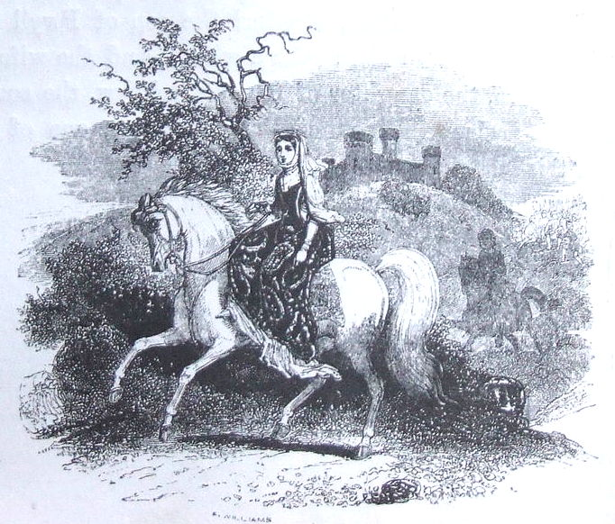 Rhiannon (wife of Pwyll) from an 1877 edition of the Mabinogion
