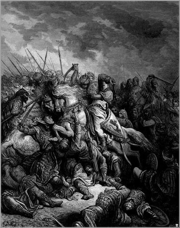 Richard I of England at the Battle of Arsuf, by Gustave Doré (1875)