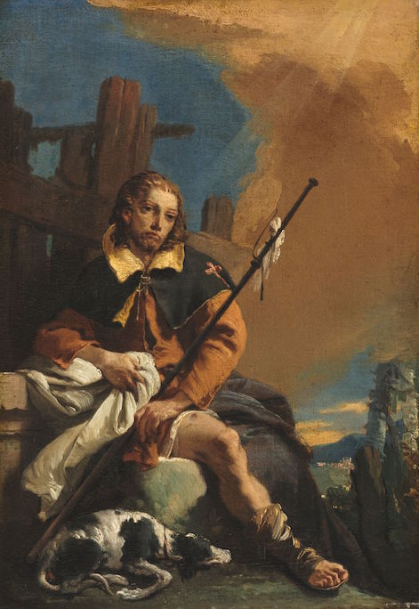 Saint Rocco as a Pilgrim by Giovanni Battista Tiepolo (1730)