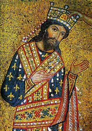 Mosaic depicting Roger II of Sicily