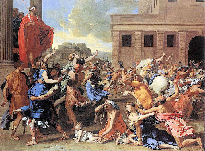 The Abduction of the Sabine Women by Nicolas Poussin (1634)