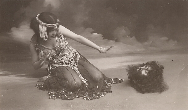 Actress Maud Allan playing Salome in a 1906 performance