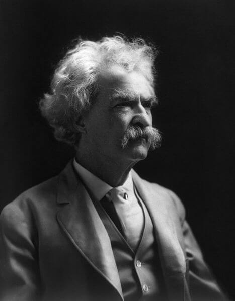 Samuel Clemens (a.k.a. Mark Twain) in 1909